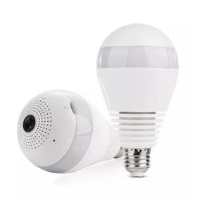 Lâmpada Câmera Filmadora Panorâmica Wi-fi + Bocal E27