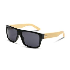 04a7a4e2dcf4b Óculos Madeira Masculino Polarizado Uv400 + Brinde Case