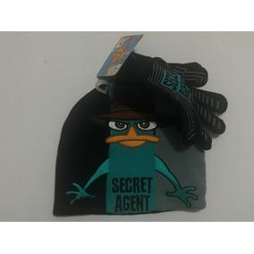 Set Gorro Para La Cabeza Guantes Super Agente P Phineas Ferb