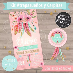 Kit Imprimible Atrapasueños Tipi Carpa India
