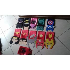 Kit 20 Capa + 20 Mascara Lembrancinhas Super Herois Vingador
