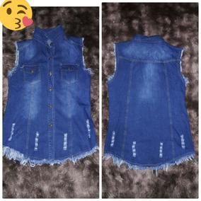 Colete Jeans Comprido Feminino Mada Instagram Promoção