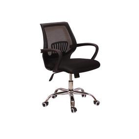 Cadeira De Escritório Secretária Plus Base Giratória - Preta