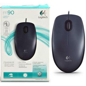 Mouse Usb 1000 Dpi Logitech M90 Preto Caixa Novo