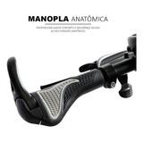 Manopla Punho Anatômico Com Bar End -apoio De Guidão Bike M2