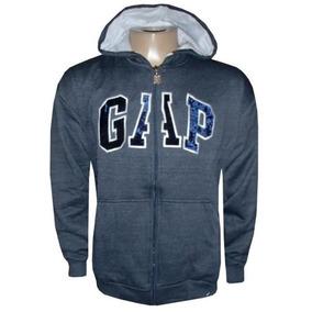 1ba19ce9d Blusa Casaco Frio Moletom Masculina Gap Ziper Aberto Top