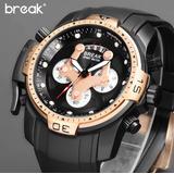 867dbbaf014 Relógio Esportivo Break Para Homens De Bom Gosto