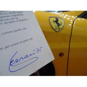 Red Book - Autógrafo De Enzo Ferrari