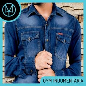 75b2981992991 Camisa Jean Azul Oscura Hombre - Ropa y Accesorios en Mercado Libre ...