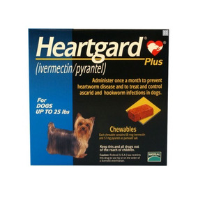 Desparasitante Heartgard Plus Merial Perro 11kg + Guante
