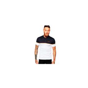 Camisa Polo Up Branco/azul Marinho Masculino