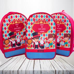 20 Mochilas/mochilinhas Circo Personalizadas Infantil 26x20