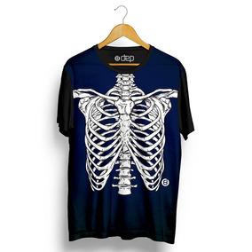 12c73c4387 Camiseta Dep Esqueleto Marinho