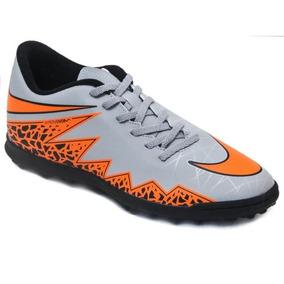 Chuteira Nike Hypervenom Cinza E Laranja - Chuteiras Nike de Society ... 4c2da2969220e