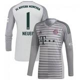 7b9151ff70 Camisa Bayern Munchen Cinza 18-19 Goleiro M Longa Neuer 1
