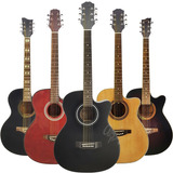 Guitarra Electroacustica Con Corte Superior + Pua + Garantia