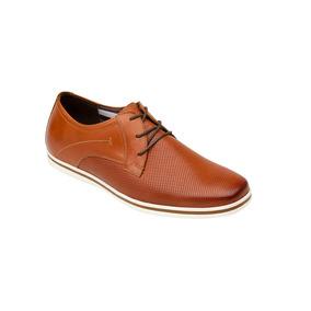 Calzado Hombre Caballero Zapato Formal Flexi Piel Cafe Comod