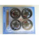 Set De 4 Ruedas Custom Tuning Autos Camionetas Escala 1/24
