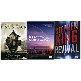 Livro A Casa Negra + Sob A Redoma + Revival - Stephen King