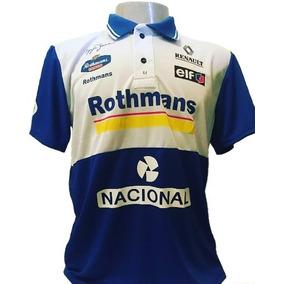 Camiseta Camisa Pólo Retrô Fórmula 1 Ayrton Senna Williams 4d1b49676c29e