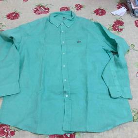 Camisa Social Original Da Lacoste Linho Tam 44