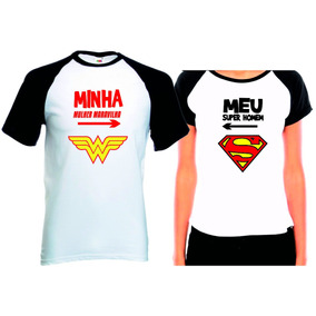 3f452fbd36 Camiseta Casal Namorado - Camisetas Manga Curta no Mercado Livre Brasil