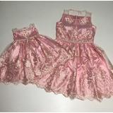 Oferta Vestido Tal Mãe Tal Filha Renda Rosa Tam G Tam 1