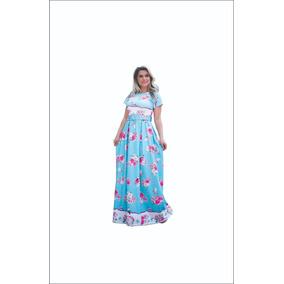 Vestido Longo Encanto Moda Modesta Evangélica
