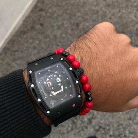 Reloj Negro Con Calavera Style 002 De Acero Inoxidable