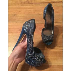 Padrisimos Zapatos Tacones Bakers Cristales Azul Acero Origi acb9bb9bee0b