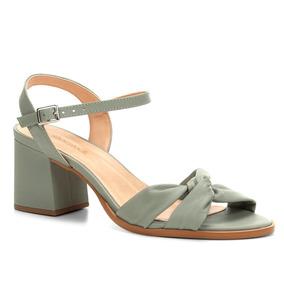 Sandália Shoestock Salto Bloco Drapeado