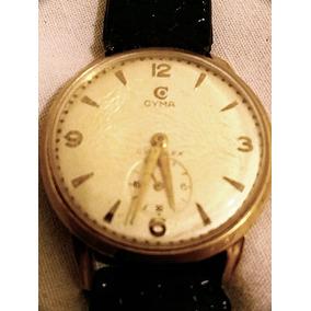 Relógio Pulso Autêntico Cyma Em Ouro 18k - Anos 60 E 70