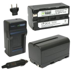 Batería Wasabi Power (paquete De 2) Y Cargador Para Sony Np-