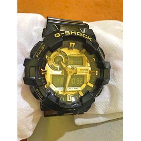 6ff6f3d0a1c G Shock Preto Com Fundo Dourado - Relógio Casio Masculino no Mercado ...
