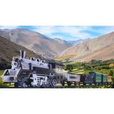 Tren Eléctrico Grande Con 5 Vagones Y Más De 1.20mts De Via