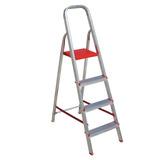 Escada Aluminio Dobravel Leve 4 Degraus Botafogo Original