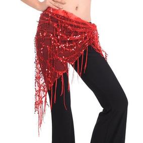 Fajilla Para Danza Arabe Bellydance Roja. Envio Gratis.