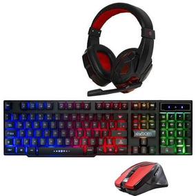 Kit Gamer Teclado Semi Mecânico + Headset Led + Mouse Óptico