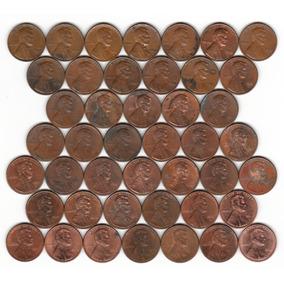 44 Moedas Diferentes De One Cent Dollar - Estados Unidos Usa