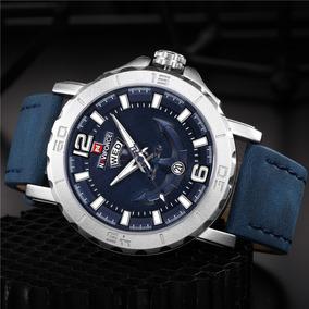 74ceab02409 Relógio Masculino Esportivo Militar Naviforce Couro Original