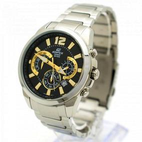Efr-535d-1a9 Relogio Casio Cronografo Aço Inox Preto Dourado
