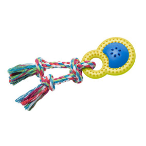 Brinquedos Para Pet - Mordedor Happy Rattle P - Amarelo E Az