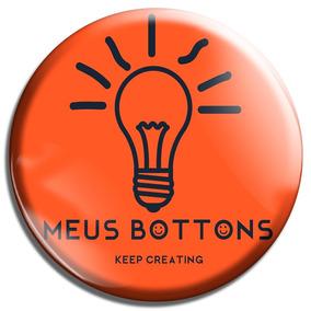 50 Bottons Personalizados 3,5 Cm Buttons Broches Top Melhor