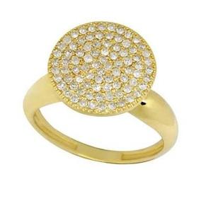 Anel Chuveiro Com 83 Pedras De Brilhantes Naturais Ouro 18k