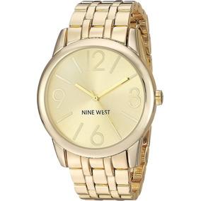 Nine West Goldtone Reloj De Pulsera Original Con Envío Grati