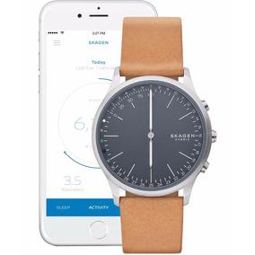 9ac96416c39 Relógio Skagen Jorn Hybrid Smartwatch Brown Leather Skt1200