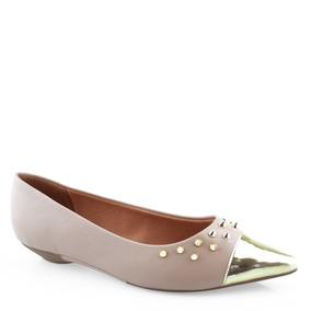599894e7988 Sapatilha Vizzano Bico Fino Dourada - Sapatos no Mercado Livre Brasil