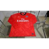 Camisa Manga Longa Oficial Nike Futebol Time Psg França
