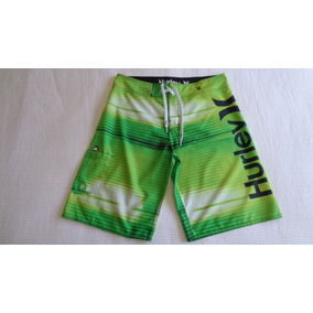 Bermuda Masculina Hurley Verde Tamanho 42 - Usada 156b215181a