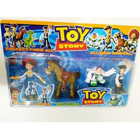 Bonecos Toy Story Buzz Woody Jessie Bala No Alvo Kit Com 4